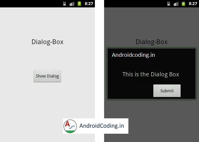Android Tutorial on Dialog-Box
