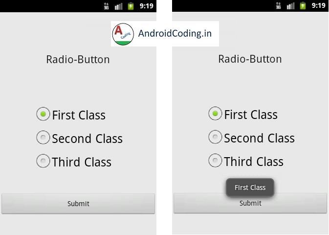 Android Tutorial on Radio-Button