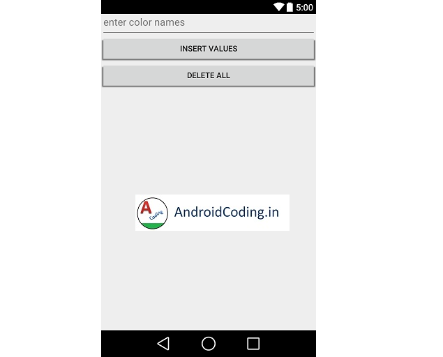 Android SQLite Tutorial On Inserting, Deleting Values into Database