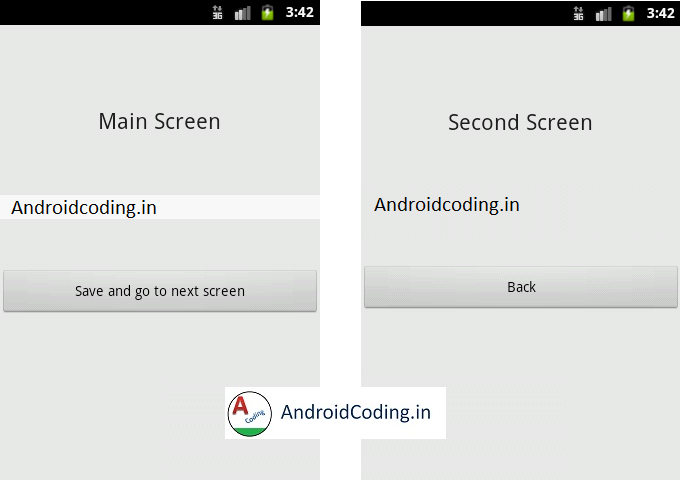 Android Tutorial on Shared Preferences