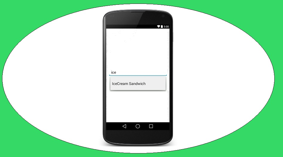 Android Tutorial on AutoCompleteTextView