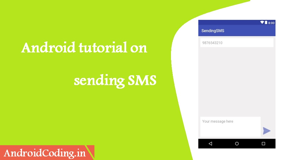 Android Sending SMS || Tutorial on how to send text message within app