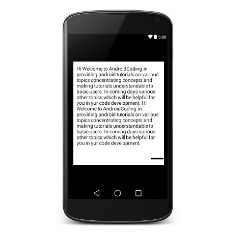 Tutorial on Android Expandable Textview