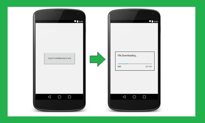 Android Tutorial on Progress Bar File Downloading