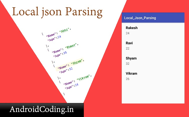 Android Parsing Local Json Url || Fetching data from local URL