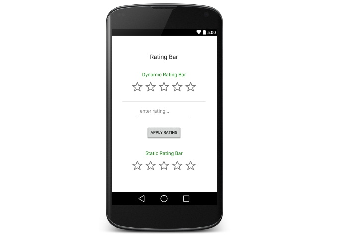 Android Tutorial on Rating Bar