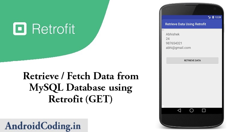 Android Fetch Data Using Retrofit Library || GET || Retrofit