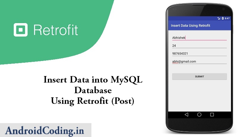 Android Tutorial on Retrofit Library || Post Data Using Retrofit Http Library
