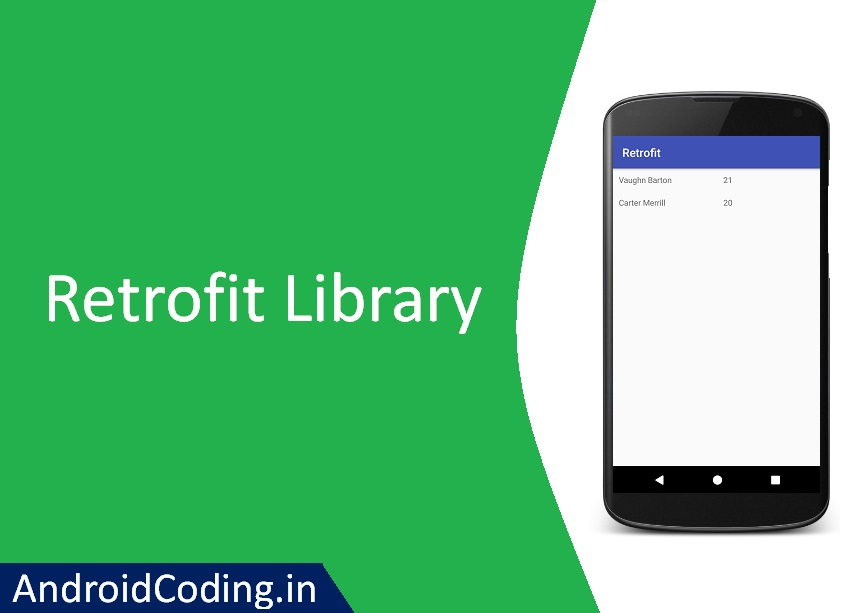 Android Tutorial on Retrofit Library || Retrofit Android Example