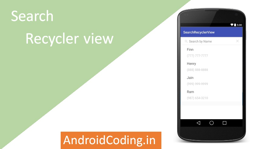 Android Search RecyclerView