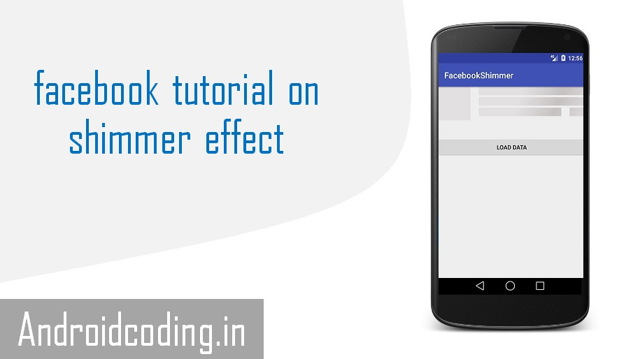 Android Tutorial on facebook shimmer || facebook shimmer effect