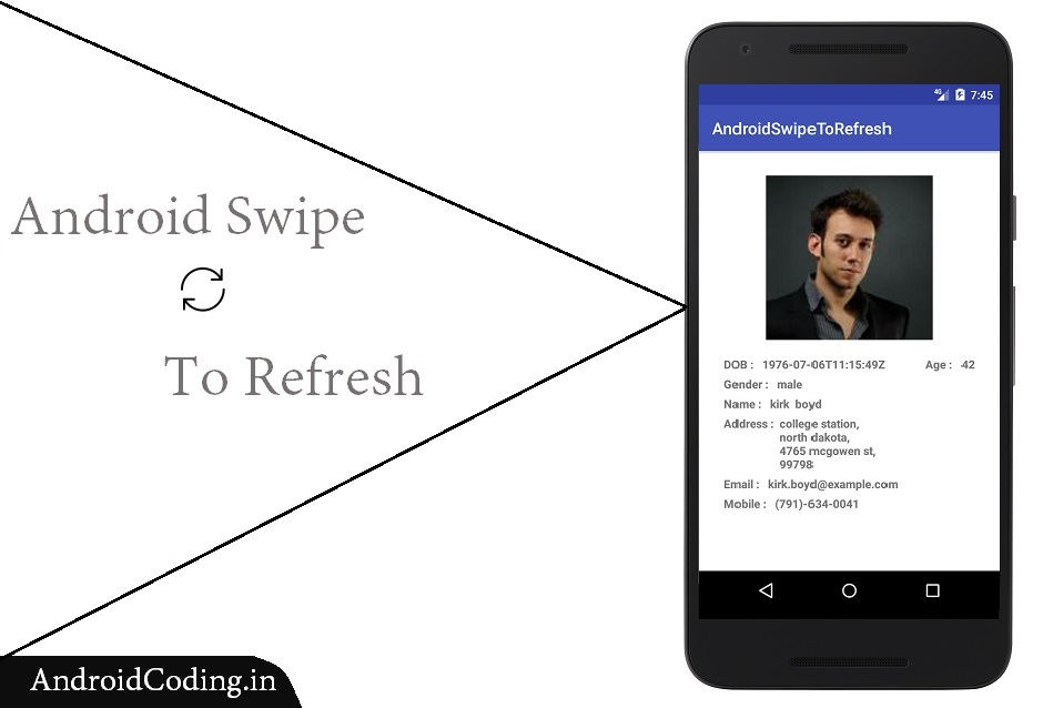 Android swipe to refresh view || Pull down refresh